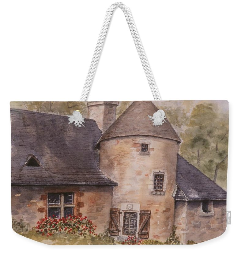 Watercolor Weekender Tote Bag featuring the painting Turenne by Mary Ellen Mueller Legault