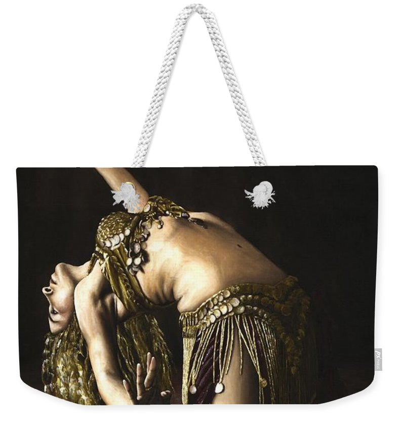 Turkish Weekender Tote Bag featuring the painting Turkish Delight by Richard Young