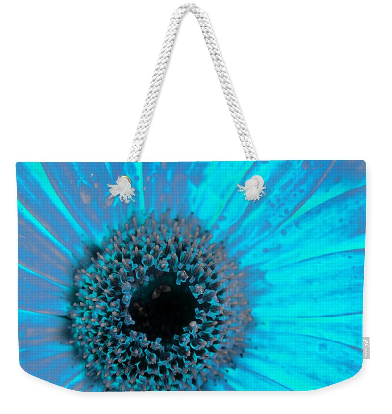 Turquoise Weekender Tote Bag featuring the photograph Turquoise Burn by Alex Art and Photo