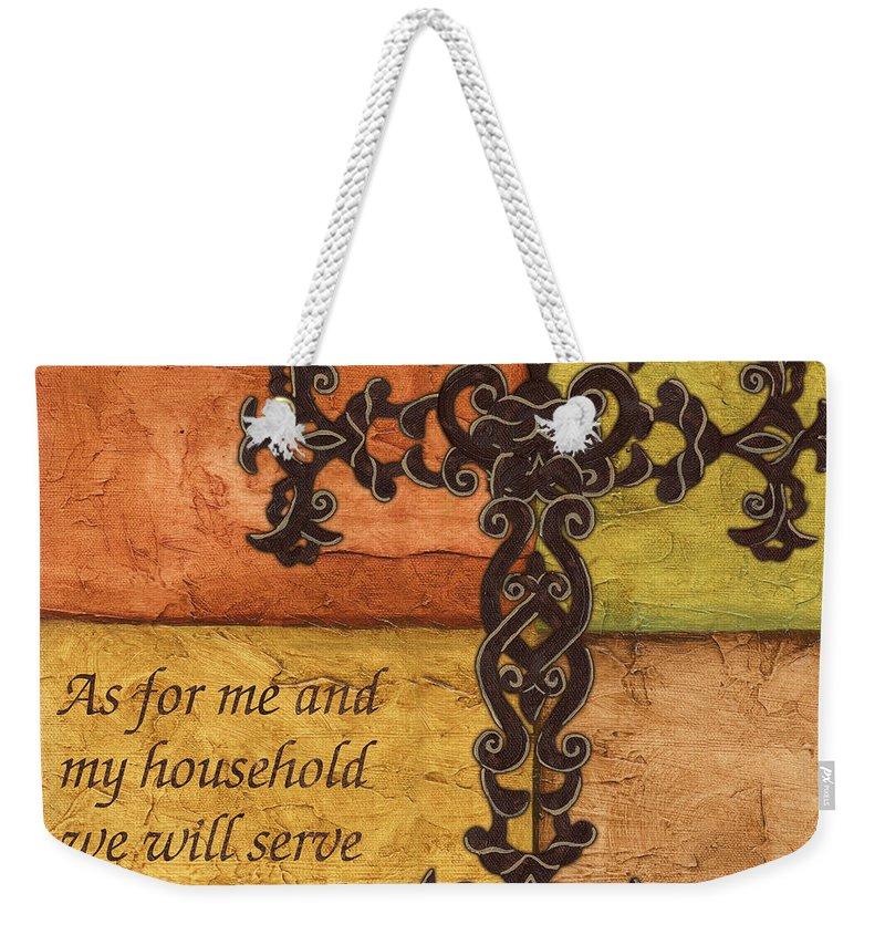 Cross Weekender Tote Bag featuring the painting Tuscan Cross by Debbie DeWitt