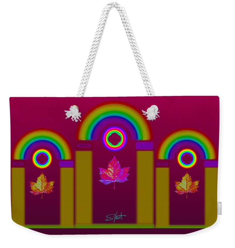 Classical Weekender Tote Bag featuring the painting Tuscan Magenta by Charles Stuart