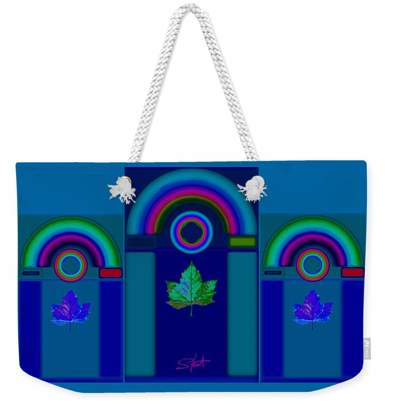 Classical Weekender Tote Bag featuring the digital art Tuscan Winter by Charles Stuart