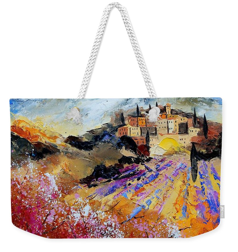 Provence Weekender Tote Bag featuring the painting Tuscany 56 by Pol Ledent