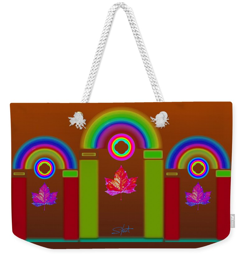 Classical Weekender Tote Bag featuring the painting Tuscon Autumn by Charles Stuart