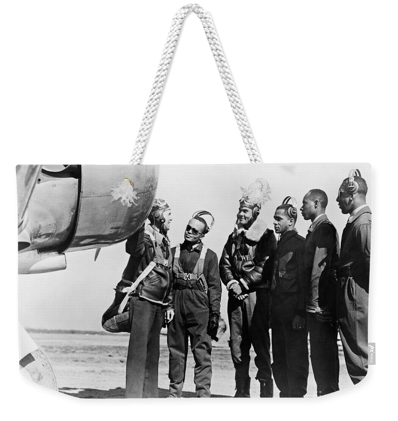 1942 Weekender Tote Bag featuring the photograph Tuskegee Airmen, 1942 by Granger