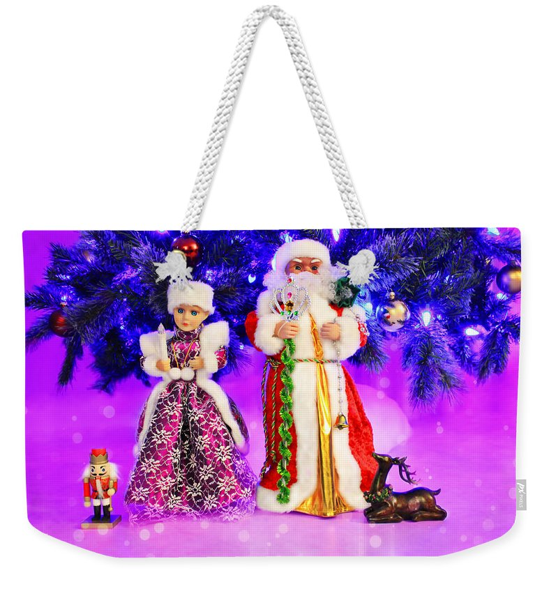 Christmas Weekender Tote Bag featuring the photograph Twas The Night Before Christmas by Iryna Goodall