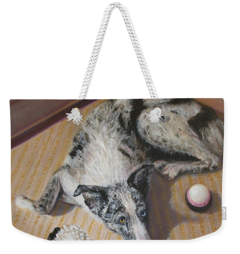 Realism Weekender Tote Bag featuring the painting Tweed by Donelli DiMaria