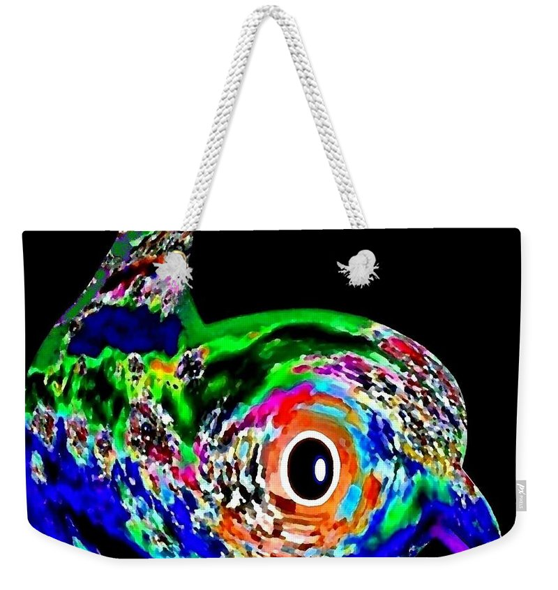 Abstract Weekender Tote Bag featuring the digital art Tweeter by Will Borden