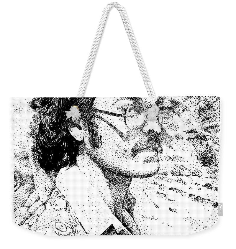 Self Portrait Weekender Tote Bag featuring the drawing Twentyseven by Joseph Juvenal