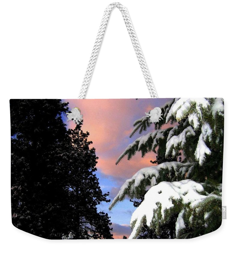 Sunset Weekender Tote Bag featuring the photograph Twilight Hour by Will Borden