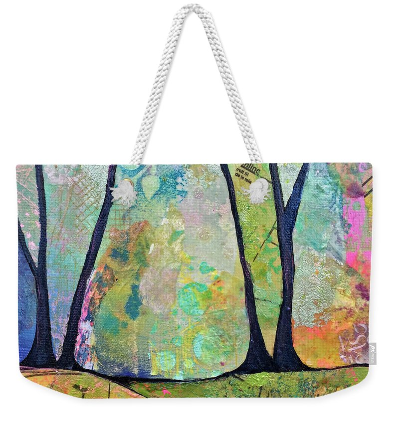 Fall Weekender Tote Bag featuring the painting Twilight I by Shadia Derbyshire