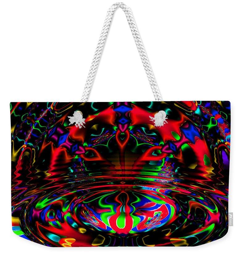 Fratal Weekender Tote Bag featuring the digital art Twilight by Robert Orinski