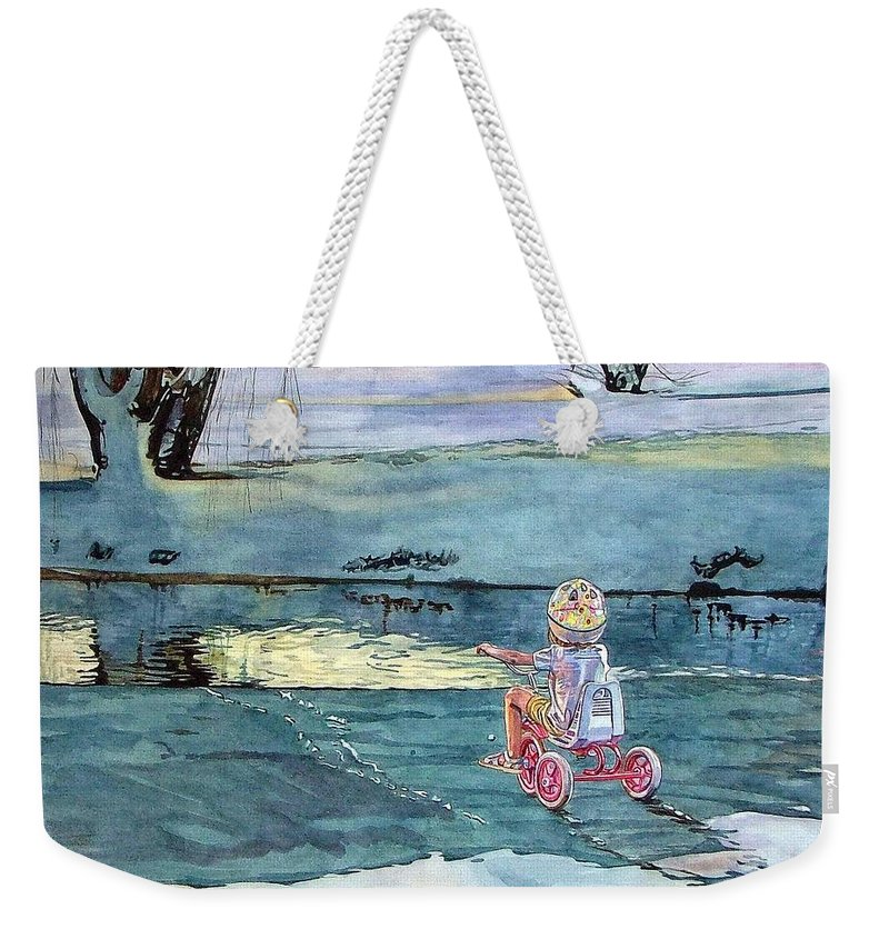 Children Weekender Tote Bag featuring the painting Twilight by Valerie Patterson