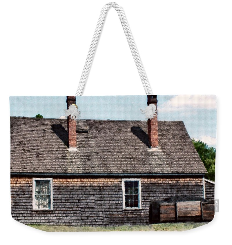 House Weekender Tote Bag featuring the painting Twin Chimneys by RC DeWinter
