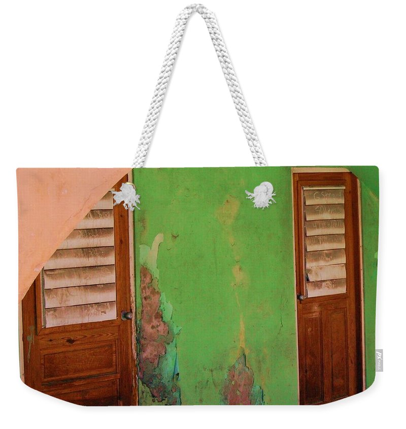 Doors Weekender Tote Bag featuring the photograph Twin Doors by Debbi Granruth
