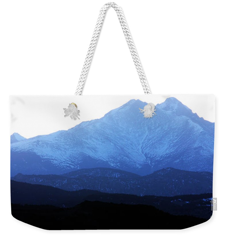 Twin Peaks Weekender Tote Bag featuring the photograph Twin Peaks Blues by James BO Insogna