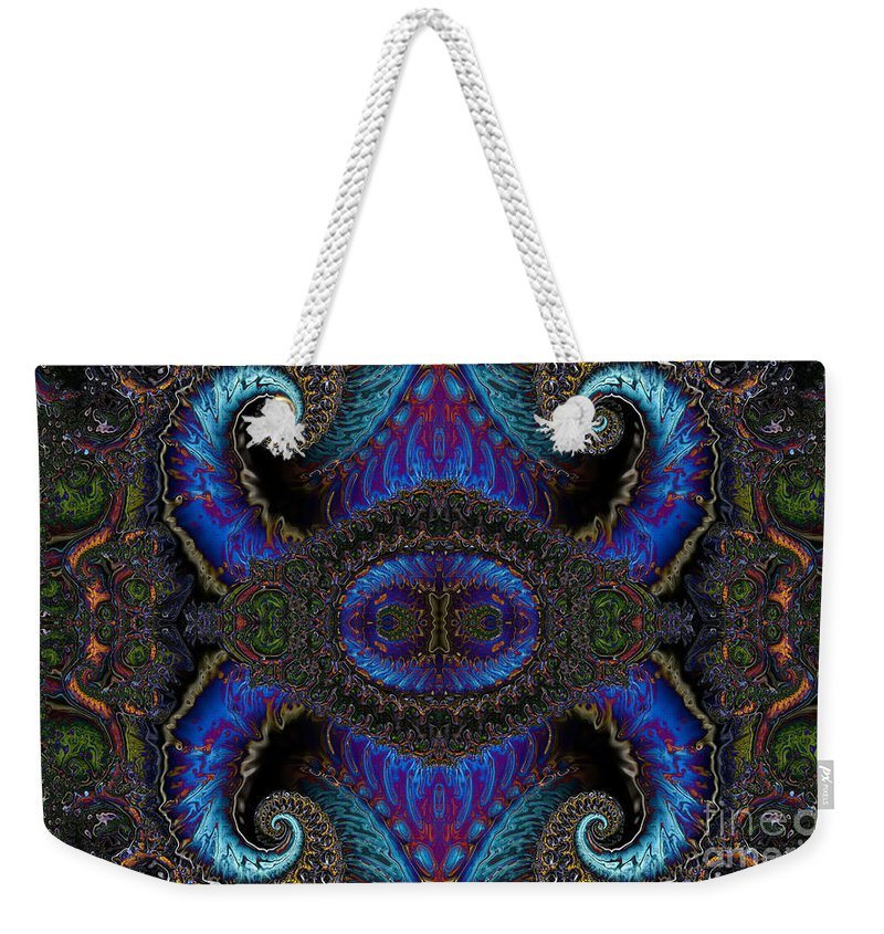 Clay Weekender Tote Bag featuring the digital art Twin Quad by Clayton Bruster