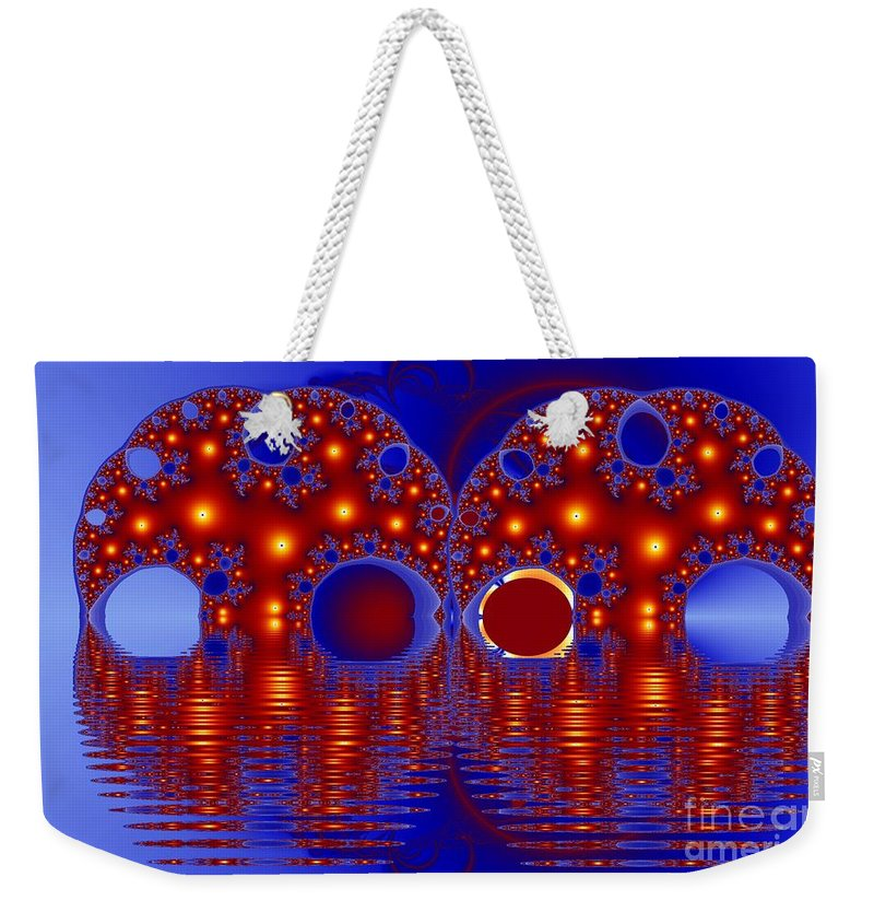 Twins Weekender Tote Bag featuring the digital art Twins by Ron Bissett