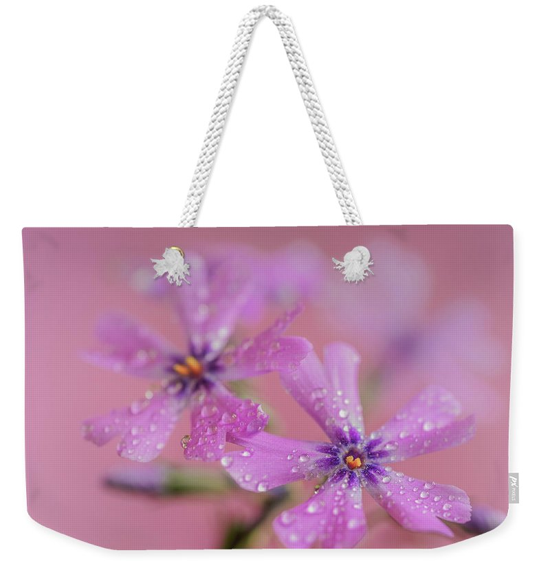 Pink Weekender Tote Bag featuring the photograph Twins by S A Littau