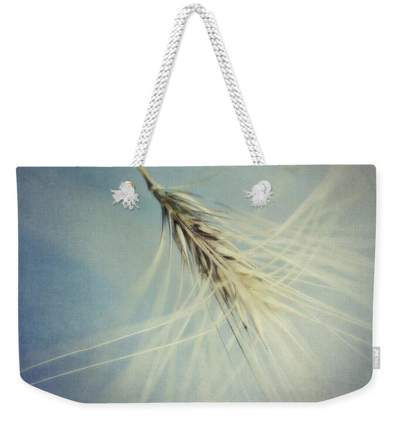 Barley Weekender Tote Bag featuring the photograph Twirling by Priska Wettstein