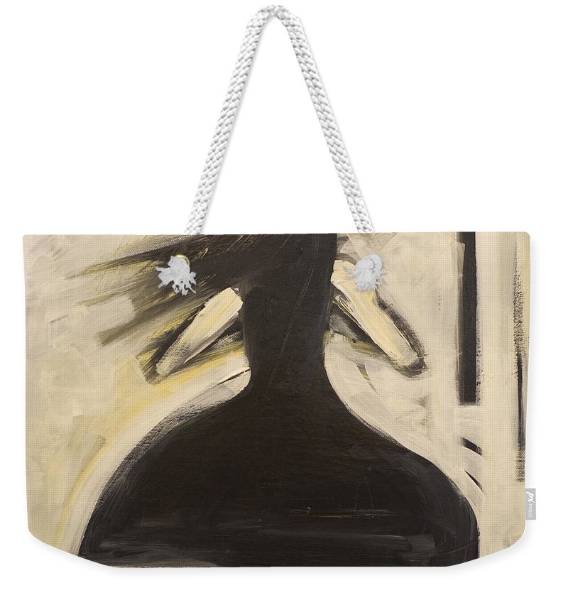 Twirl Weekender Tote Bag featuring the painting Twirling by Tim Nyberg