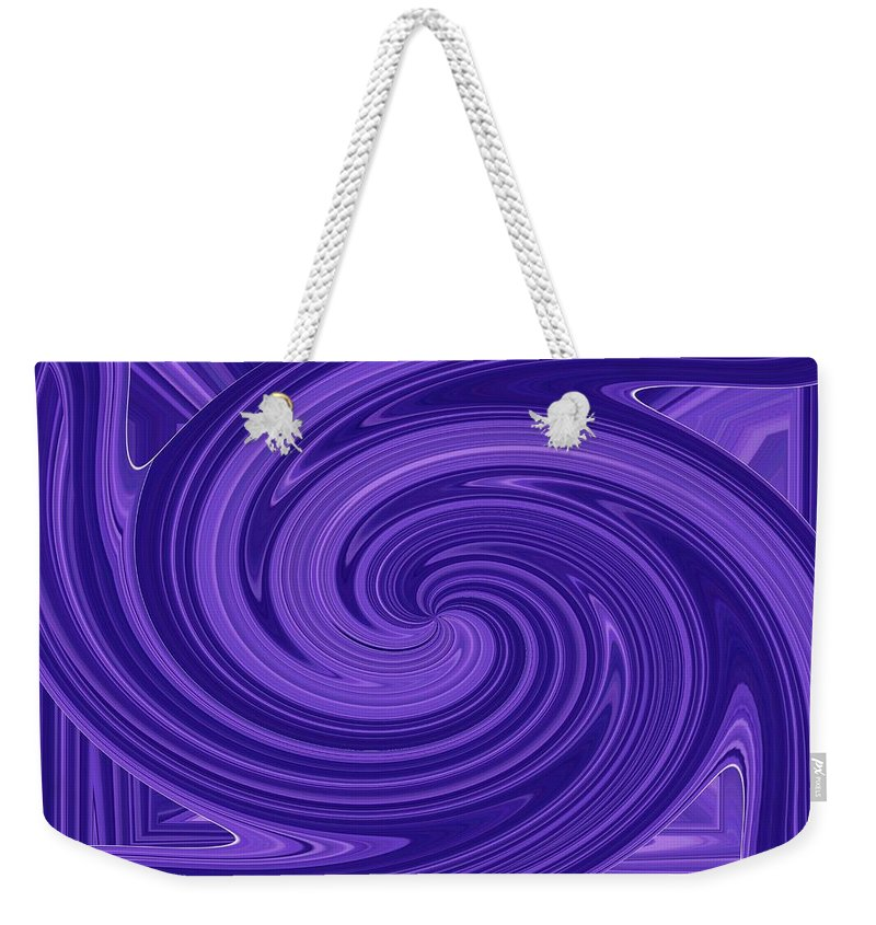 Whirlpool Weekender Tote Bag featuring the digital art Twisted Blues by Tim Allen