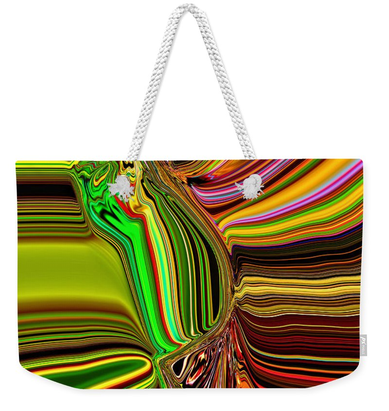 Black Weekender Tote Bag featuring the digital art Twisted Glass by Michael L McKinley