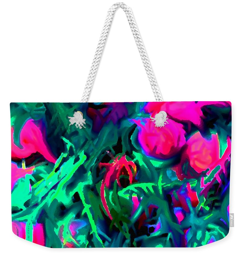 Abstract Weekender Tote Bag featuring the digital art Twisted by Ian MacDonald