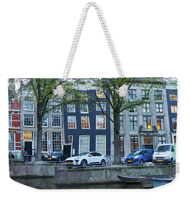 Finland Weekender Tote Bag featuring the photograph Twisted Panorama. Amsterdam by Jouko Lehto