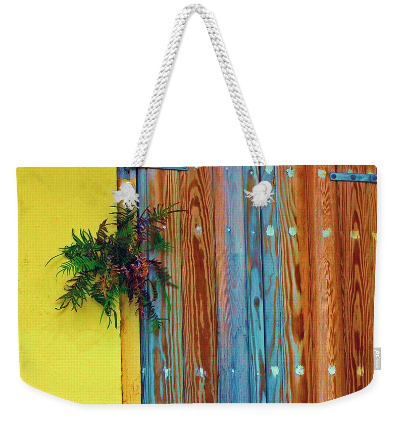 Door Weekender Tote Bag featuring the photograph Twisted Root by Debbi Granruth