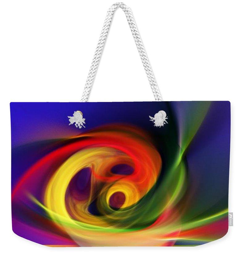 Fine Art Weekender Tote Bag featuring the digital art Twister by David Lane