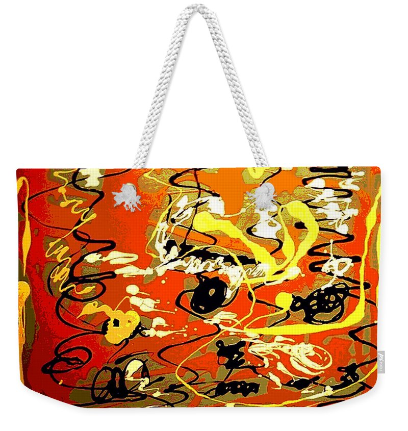 Abstract Weekender Tote Bag featuring the painting Twister by Rusty Gladdish