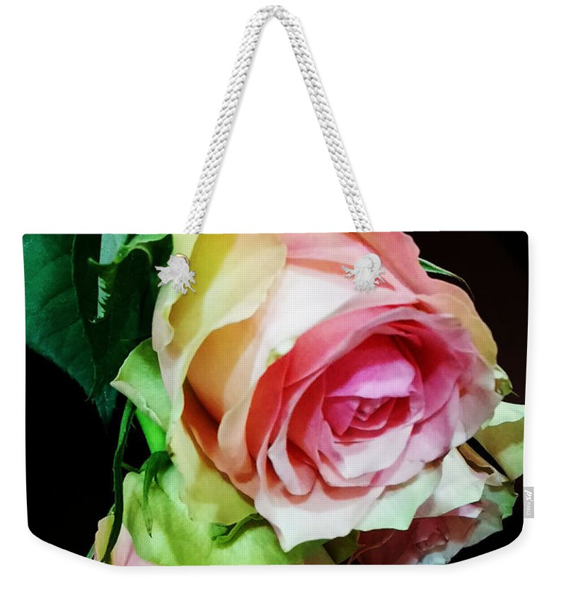 Roses Weekender Tote Bag featuring the photograph Two For Love by Jasna Dragun