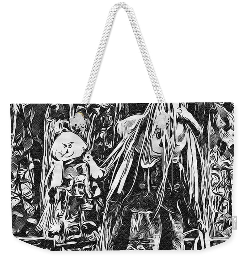 Halloween Weekender Tote Bag featuring the digital art Two For The Road by Mindy Newman