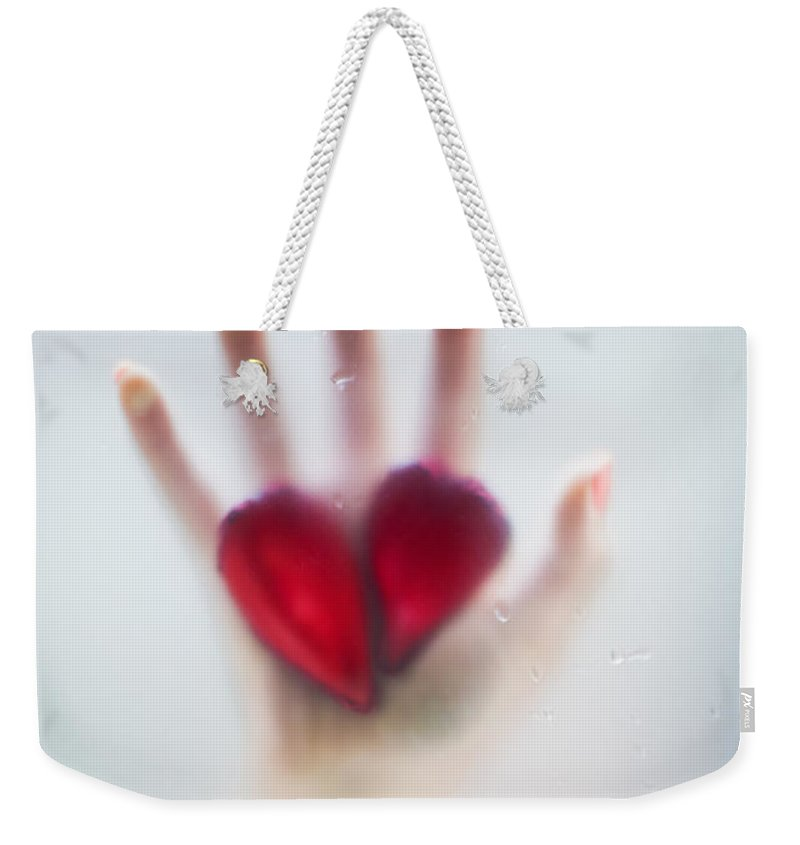 Beautiful Weekender Tote Bag featuring the photograph Two Hearts by Svetlana Sewell
