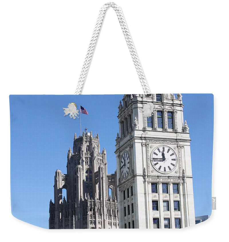 Architecture Weekender Tote Bag featuring the photograph Two Icons by Lauri Novak