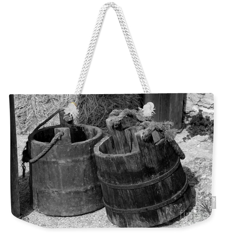 Pales Weekender Tote Bag featuring the photograph Two Old Pales by David Lee Thompson