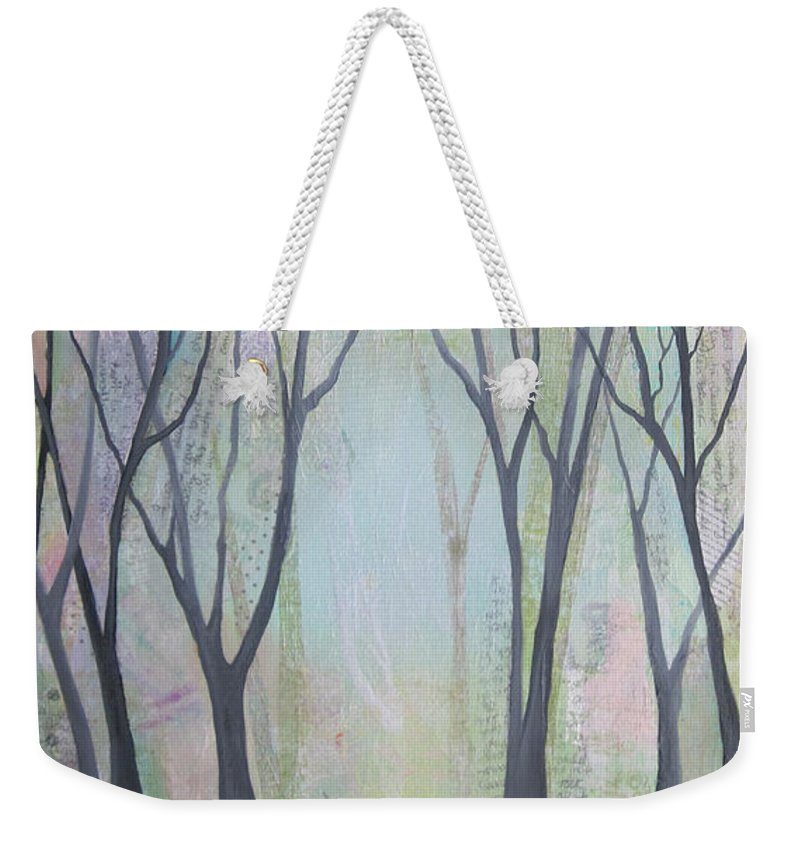 Tree Weekender Tote Bag featuring the painting Two Roads II by Shadia