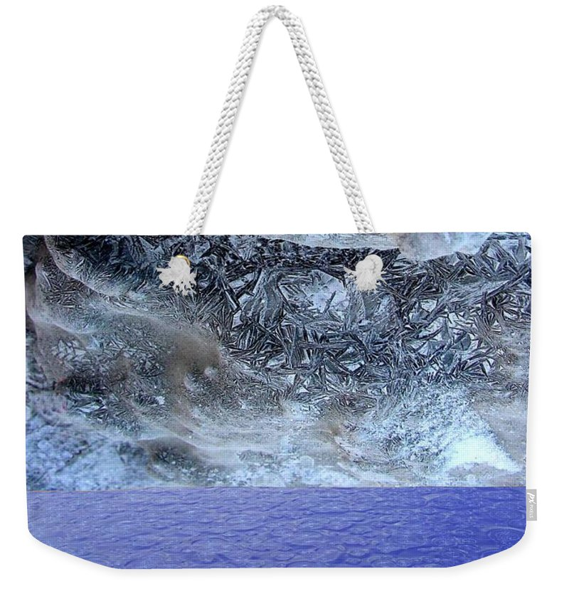 Photo Montage Weekender Tote Bag featuring the mixed media Two States by Ron Bissett