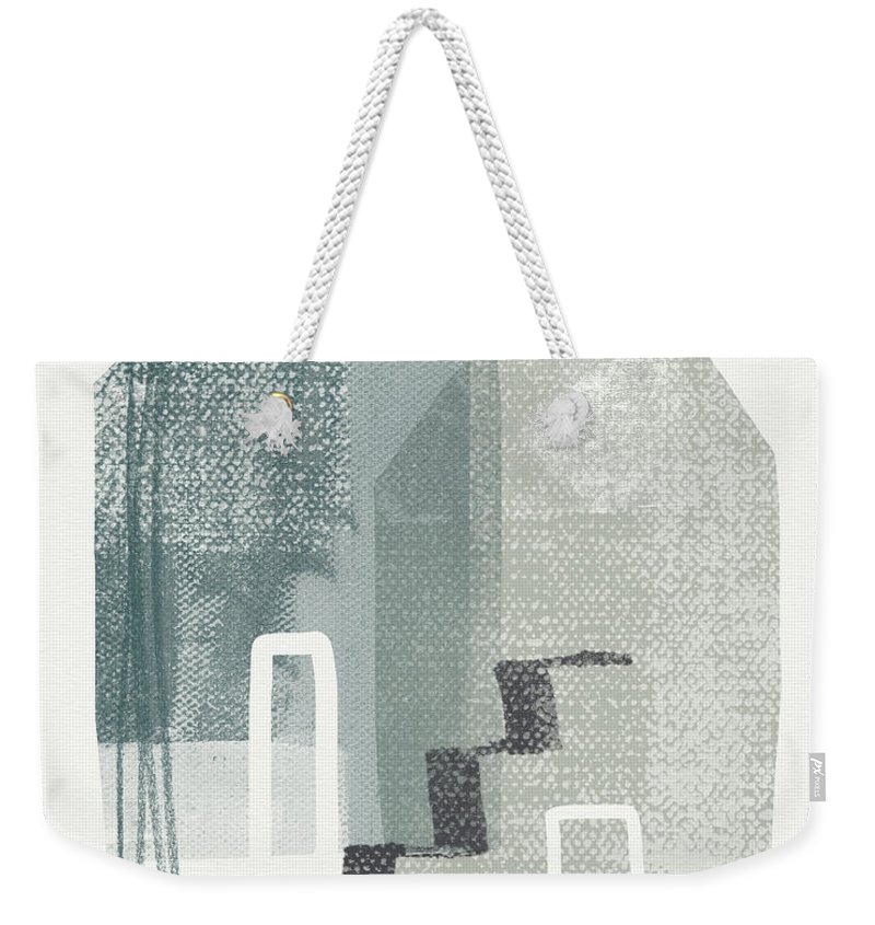 Houses Weekender Tote Bag featuring the painting Two Tall Houses- Art By Linda Woods by Linda Woods