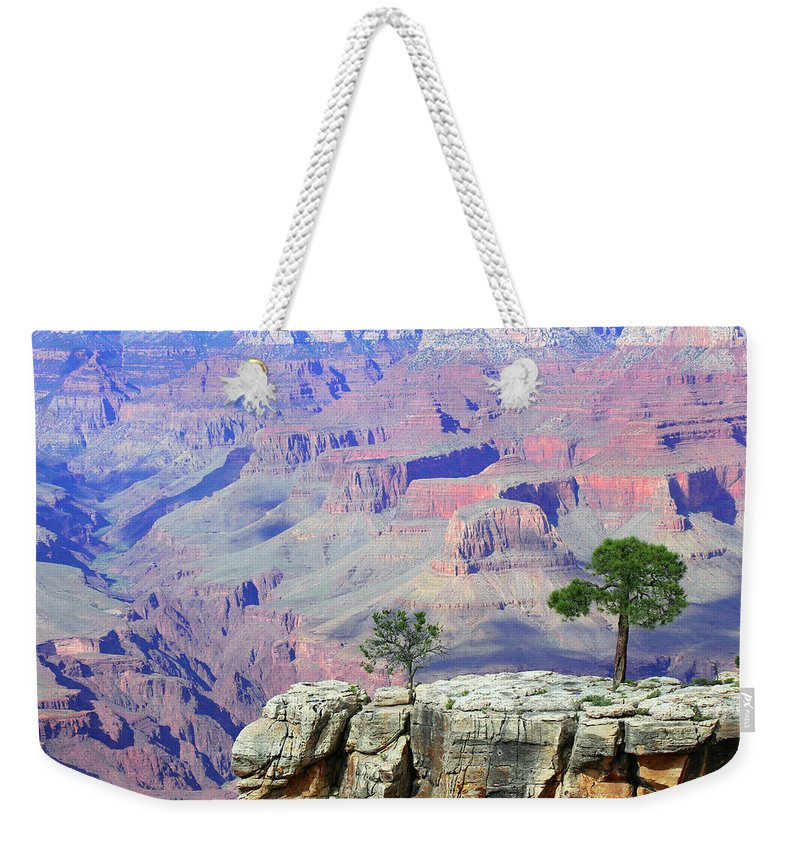 Grand Canyon National Park Weekender Tote Bag featuring the photograph Two Tree Rock by Iryna Goodall