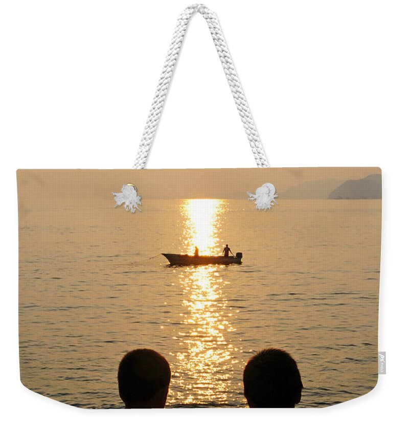 Skip Hunt Weekender Tote Bag featuring the photograph Twofer by Skip Hunt