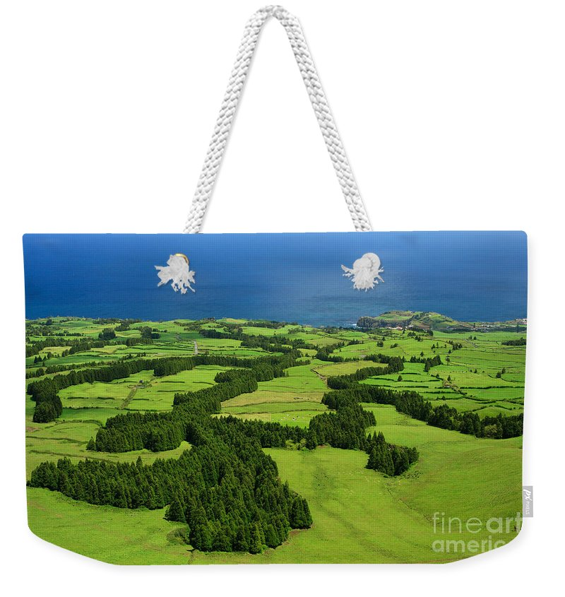 Landscape Weekender Tote Bag featuring the photograph Typical Azores Islands Landscape by Gaspar Avila