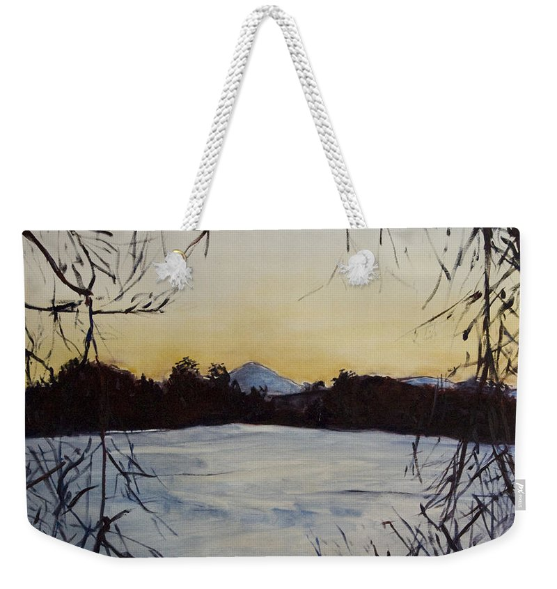 Landscape Weekender Tote Bag featuring the painting U Nas Doma by Pablo de Choros