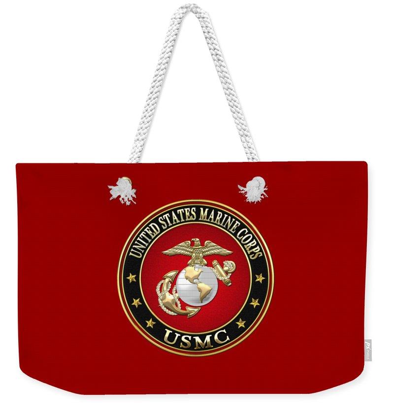 Military Insignia Digital Art Weekender Tote Bags