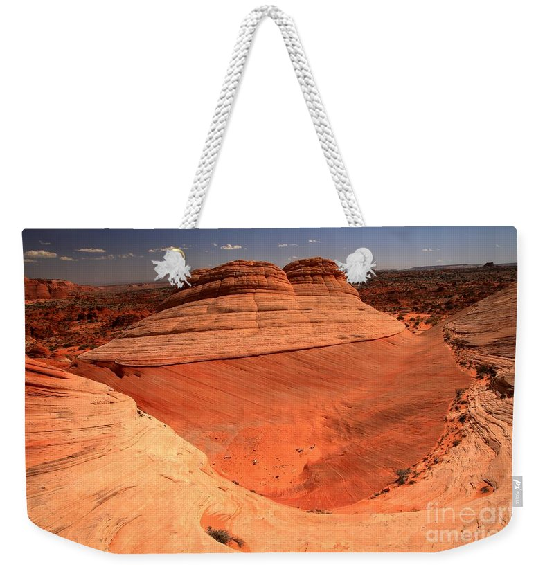Coyote Buttes Ufo Weekender Tote Bag featuring the photograph Ufo In Coyote Buttes by Adam Jewell