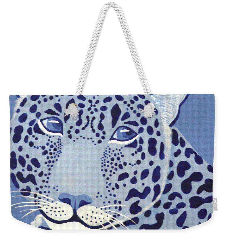 Ultramarine Jaguar Weekender Tote Bag