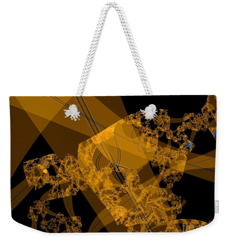 Fractal Image Weekender Tote Bag featuring the digital art Umber by Ron Bissett