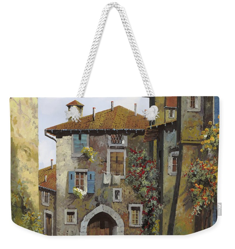 Umbria Weekender Tote Bag featuring the painting Umbria by Guido Borelli