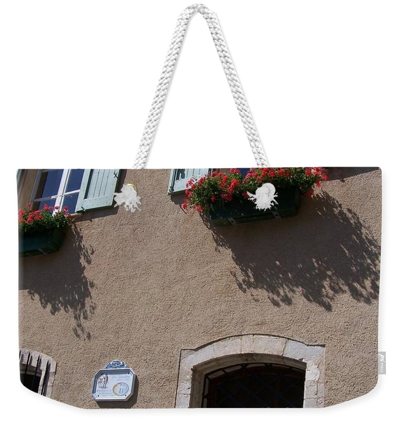 House Weekender Tote Bag featuring the photograph Un Maison by Nadine Rippelmeyer